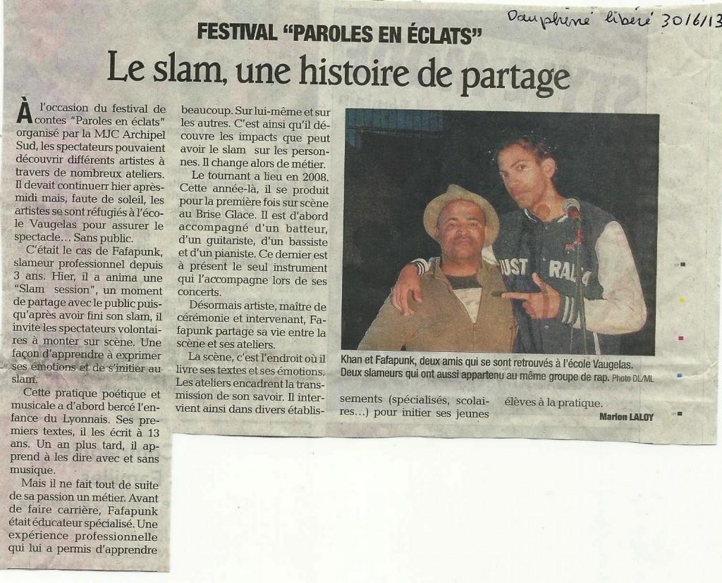Dauphiné Libéré du 30 JUIN 2013 001